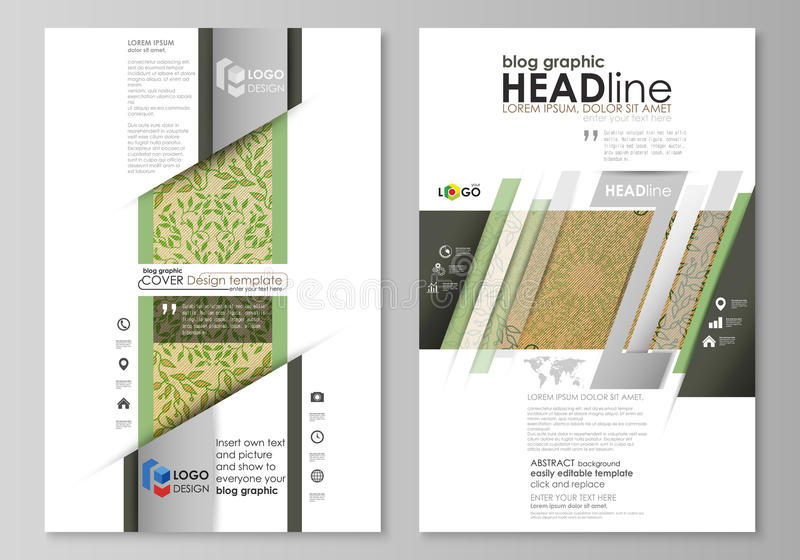 Blog Graphic Business Templates. Page Website Template, Vector ...