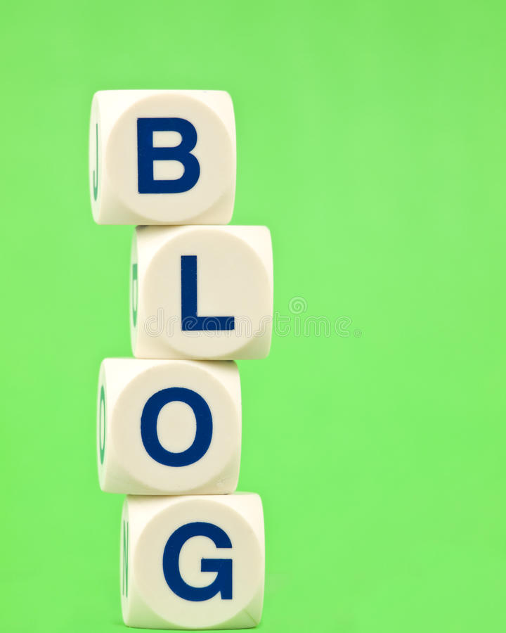 Blog on Green Background royalty free stock photo