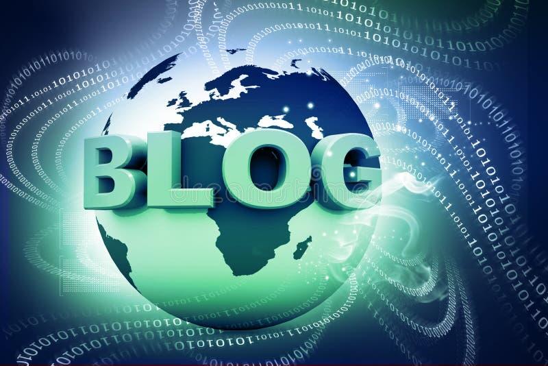 Blog i świat zdjęcie stock