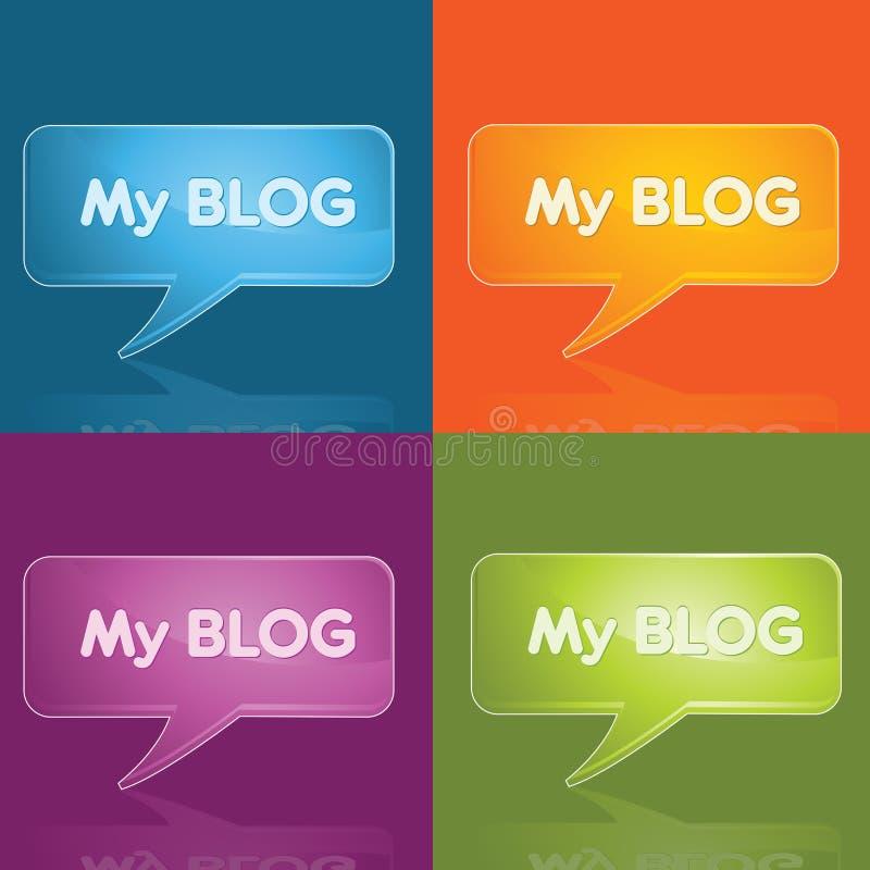 Blog icon. Blog button,vector color full icon stock illustration