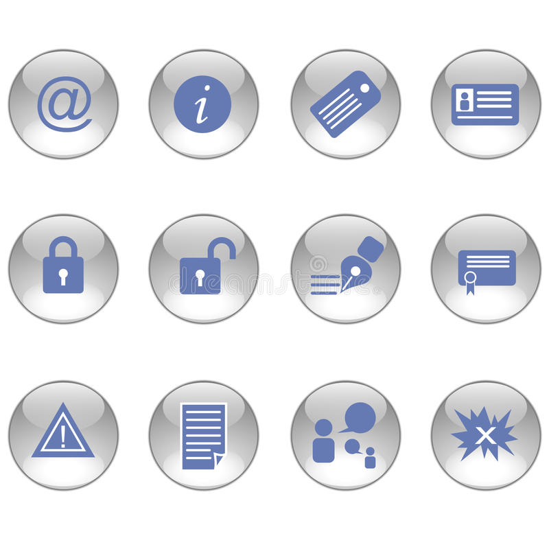 Blog icons. On the white background vector illustration