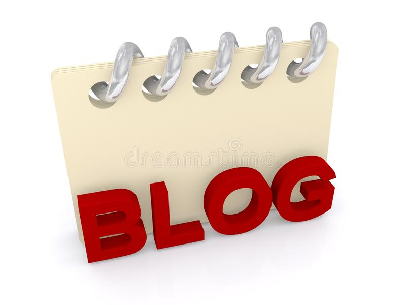 Blog illustration. An illustration for blogs and blogging with a ring binder stock illustration