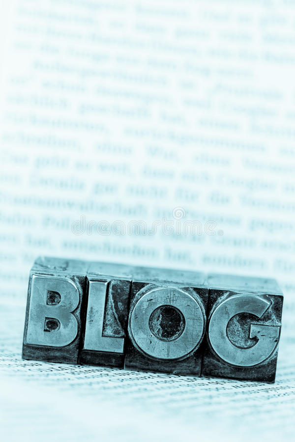 Blog in lead letters royalty free stock photos