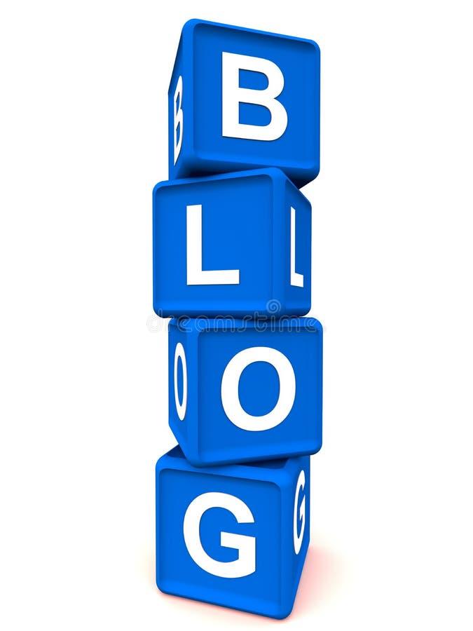 Blog letters. Internet blog concept, blog letters written with toy blocks vector illustration