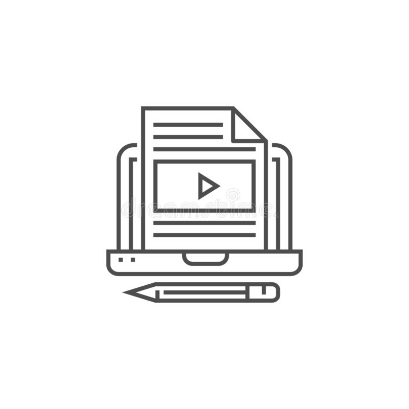 Blog Line Icon stock illustration