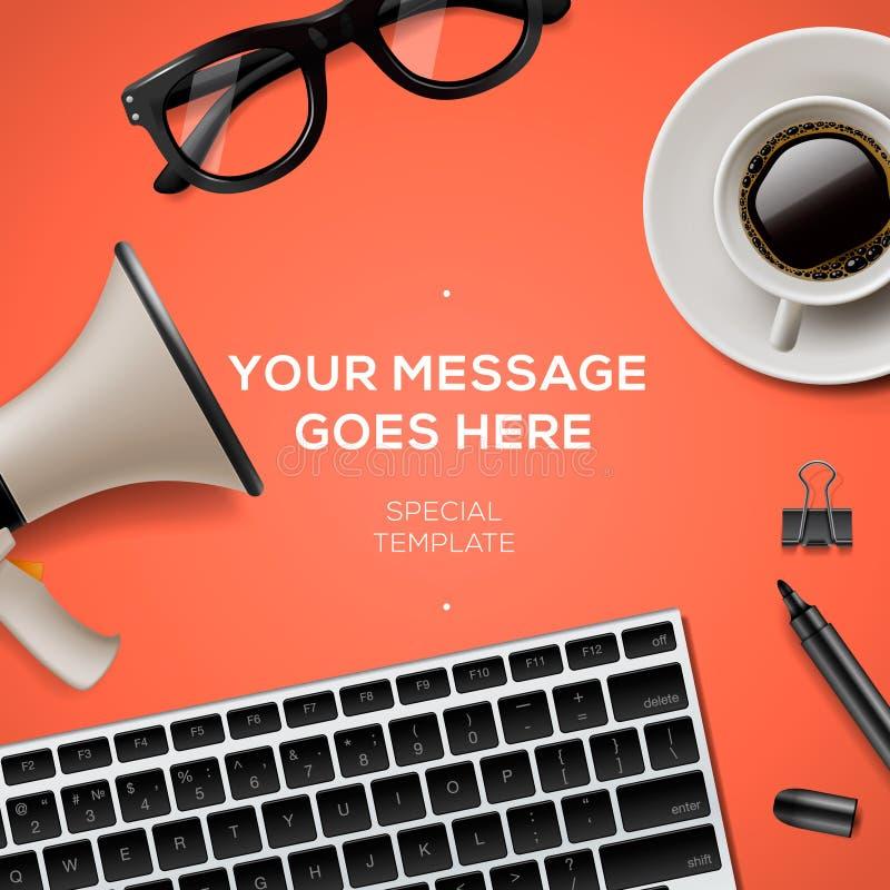 Blog management concept stock illustration