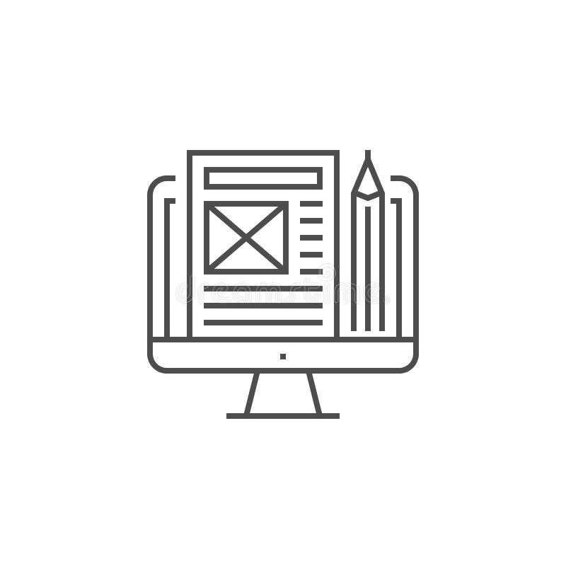 Blog Management Icon stock illustration