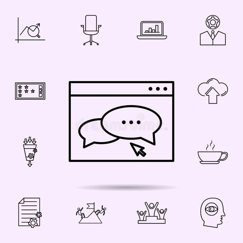 Blog-Management-Ikone Universalsatz der Netzmischung f?r Websiteentwurf und Entwicklung, Appentwicklung stock abbildung