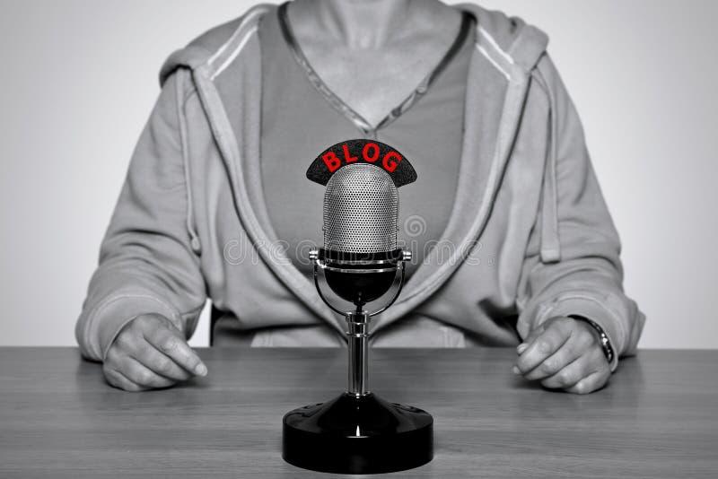 BLOG-Mikrofon lizenzfreie stockfotos