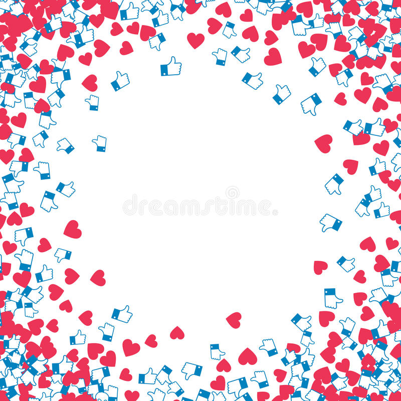 Blog monetization graphic. Hearts and likes. vector illustration