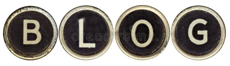 Blog in Old Typewriter Keys royalty free stock photography