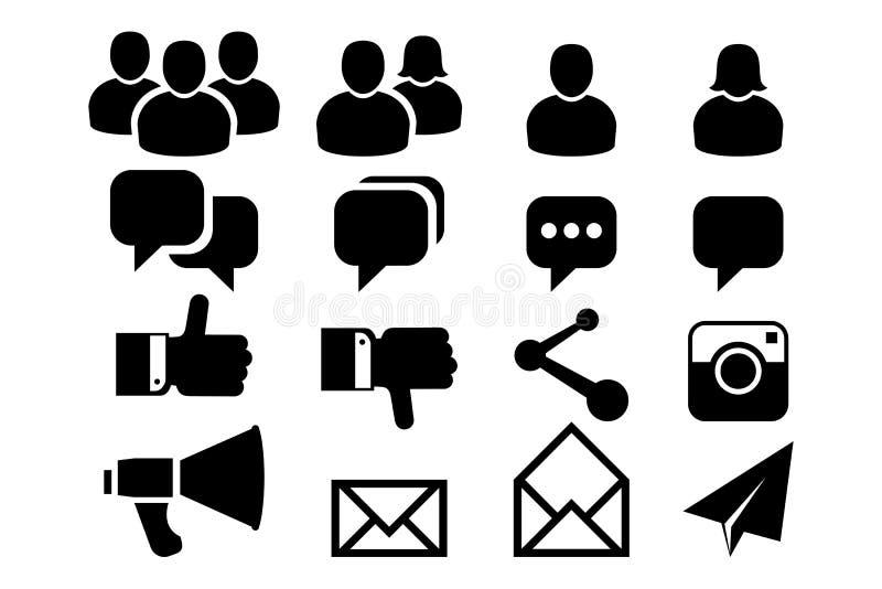 Blog And Social Media Icons Stock Photos