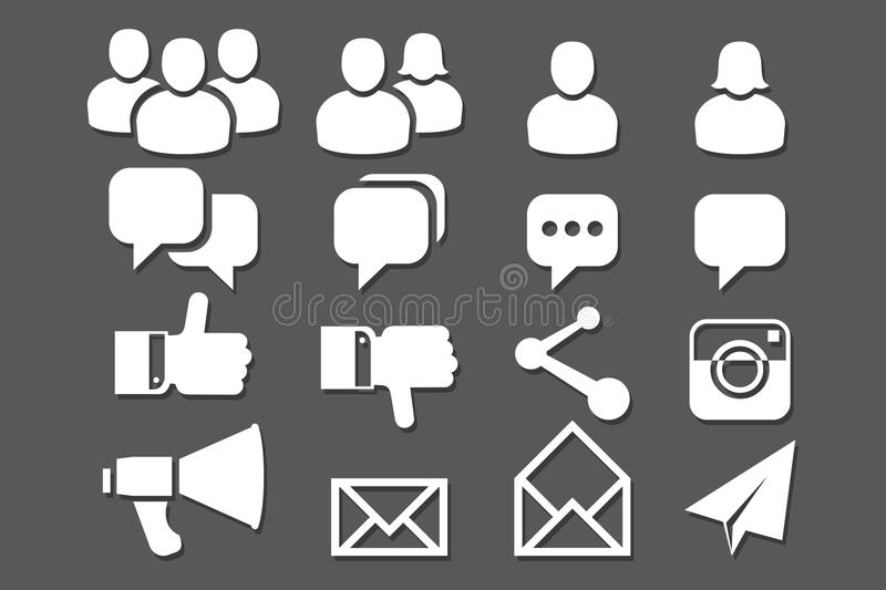 Download Blog And Social Media Icons Stock Vector - Image: 36060370