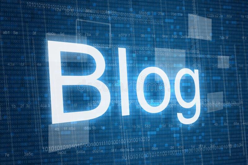 Blog sur le fond numérique illustration de vecteur