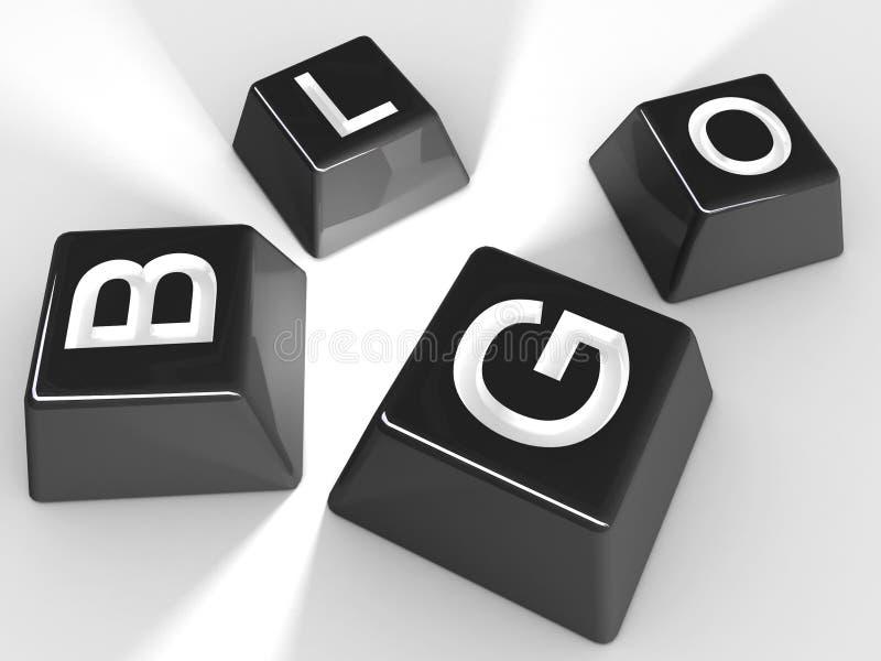 Blog-Tasten lizenzfreies stockfoto