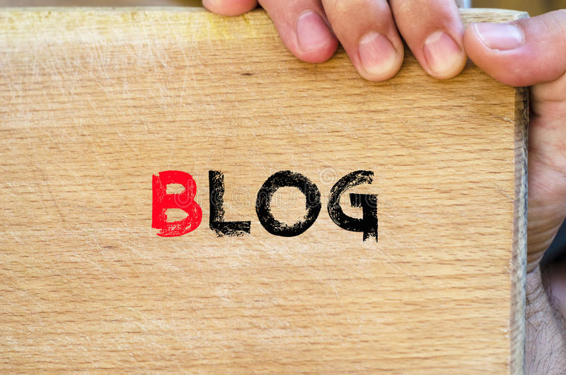Blog text concept stock image