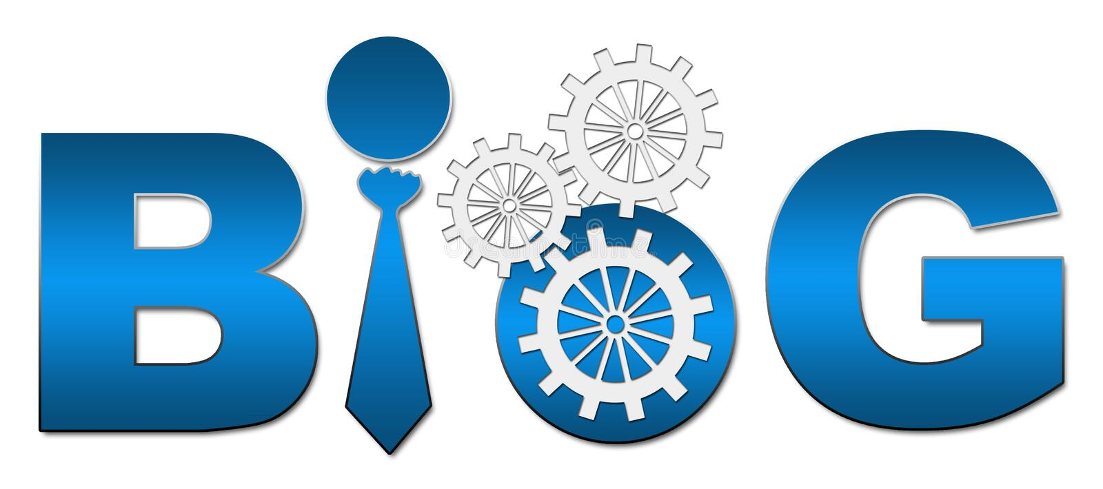 Blog Text With Gears royalty free illustration