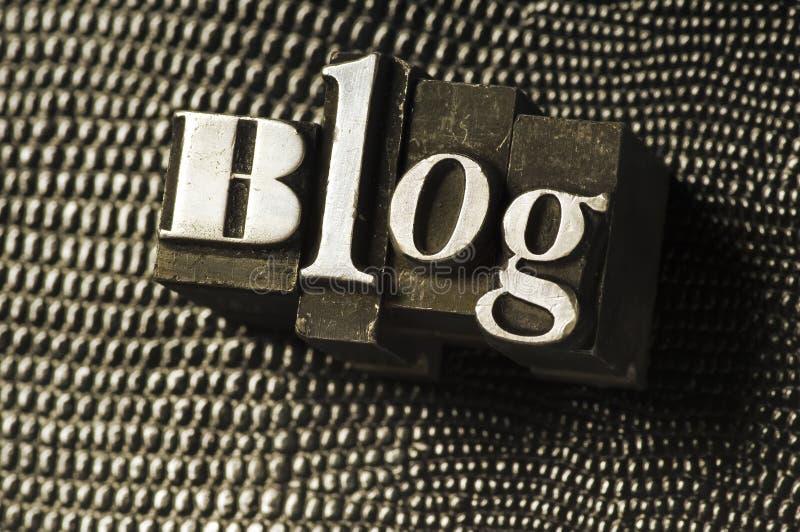 Download Blog Type stock image. Image of letterpress, diary, metal - 5003309