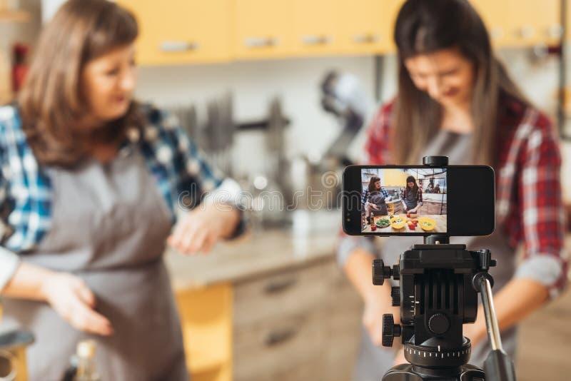 Blog video de la dieta sana de la gu?a de la receta simple fotografía de archivo libre de regalías