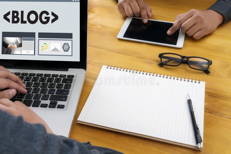 BLOG Website Online Internet Web Page Social Media Connection N. Etwork stock illustration