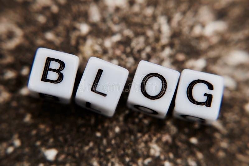 Blog witte brieven royalty-vrije stock afbeelding