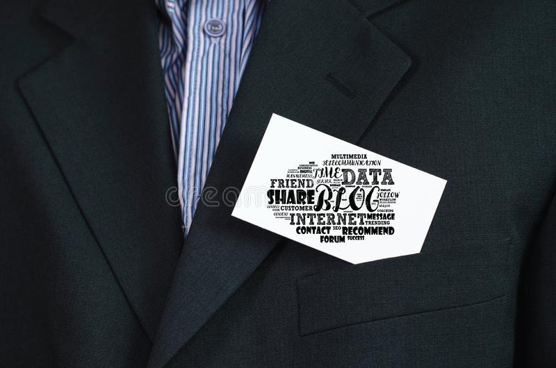 Blog word cloud collage royalty free stock image