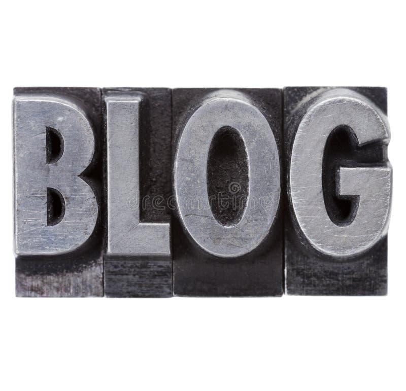 Download Blog Word In Grunge Metal Type Stock Image - Image: 22740829
