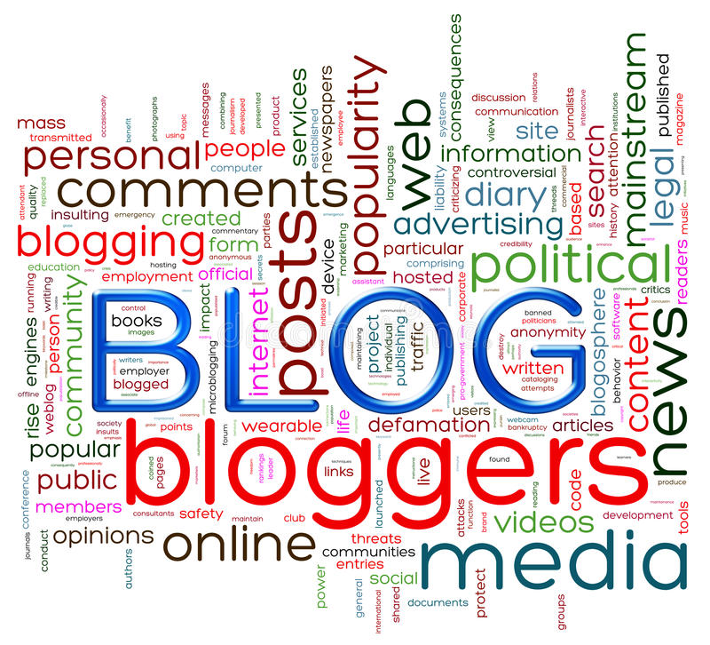 Blog word tags stock illustration