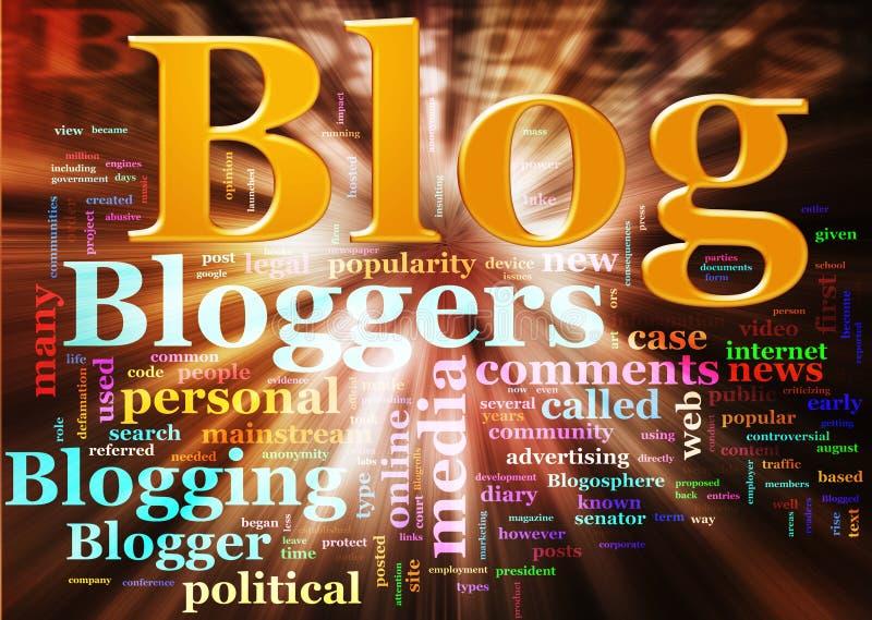 Blog wordcloud stock illustratie