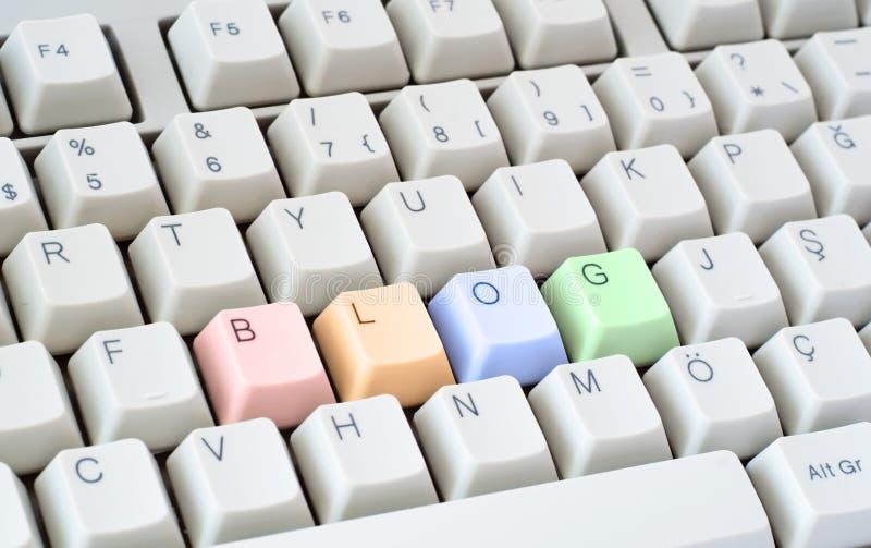 Download Blog Written In Computer Keyboard Stock Image - Image: 7836545