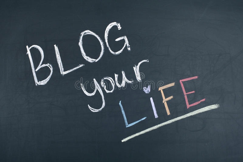 Blog Your Life stock photos