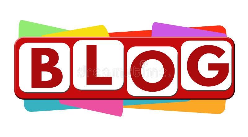 Blogaufkleber oder -aufkleber stock abbildung