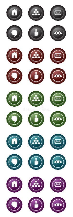 blogen buttons navigering set2 royaltyfri illustrationer