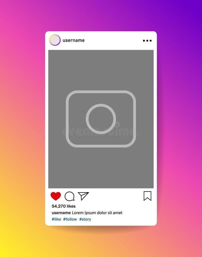 Bloger Социальная рамка фото средств массовой информации с сердцем, loupe Интерфейс столба для социальных средств массовой информ бесплатная иллюстрация