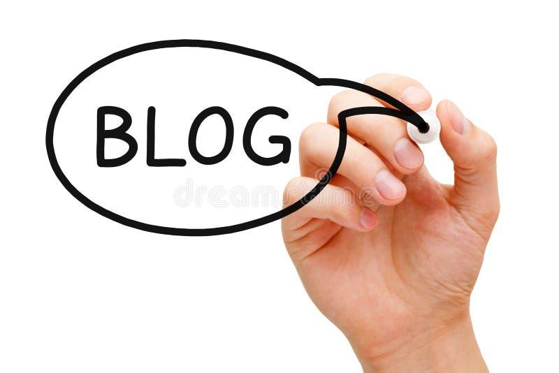 Blogganförandebubbla royaltyfri foto