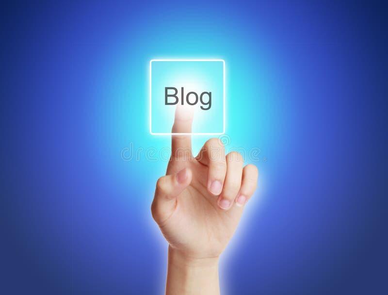 Bloggbegrepp arkivfoton