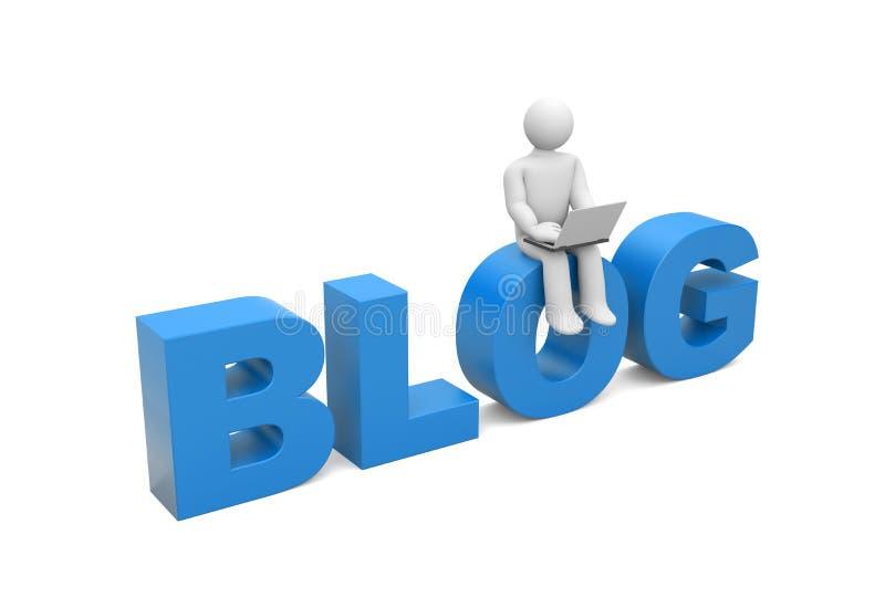 blogger διανυσματική απεικόνιση