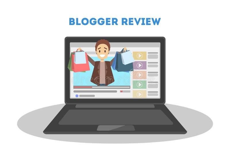 Blogger in computer vector illustratie