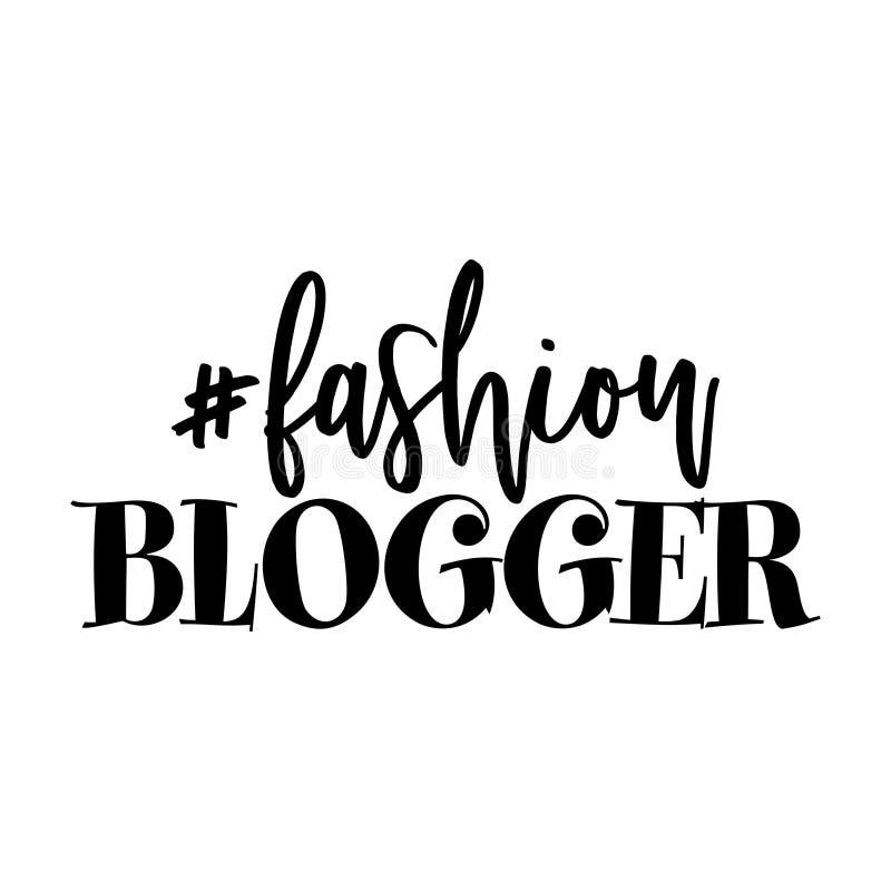 Blogger del #fashion ilustración del vector