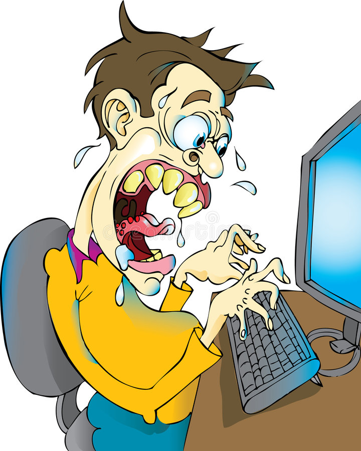 Blogger enojado libre illustration
