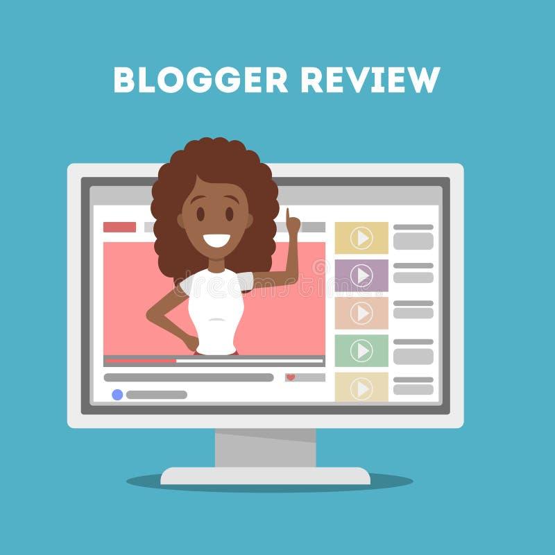 Blogger no computador ilustração royalty free