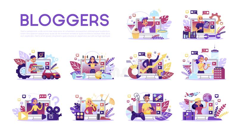 Blogger Review Stock Illustrations – 464 Blogger Review