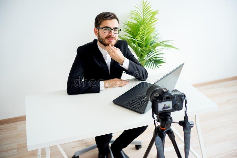 Blogger visuel masculin photo stock