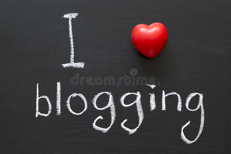 blogging的爱 免版税图库摄影