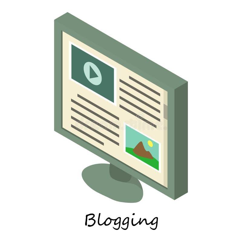 Blogging象,等量3d样式 向量例证