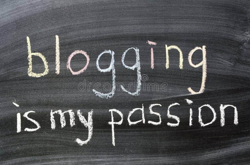 Blogging är min passion arkivbild