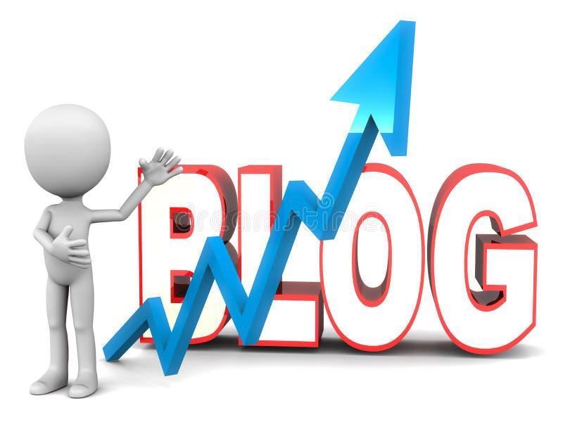 Blogging vektor illustrationer