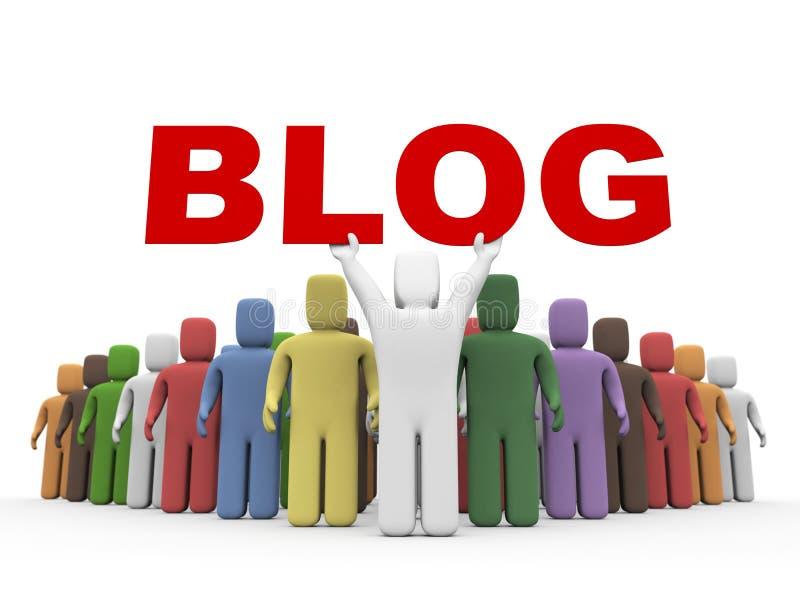 Blogging illustration stock
