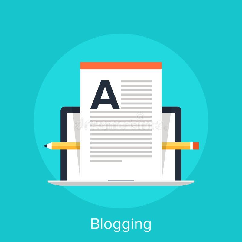 Blogging 皇族释放例证