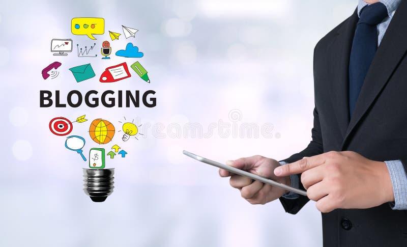 Blogging illustration libre de droits